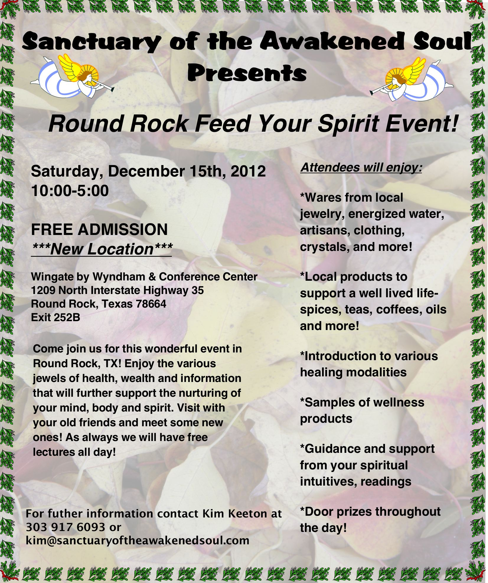Feed Your Spirit Fair 12-15-12