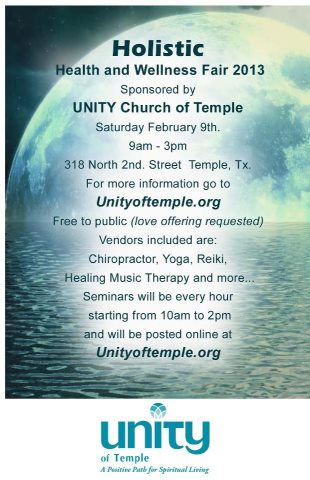 Holistic Fair at Unity Church in Temple