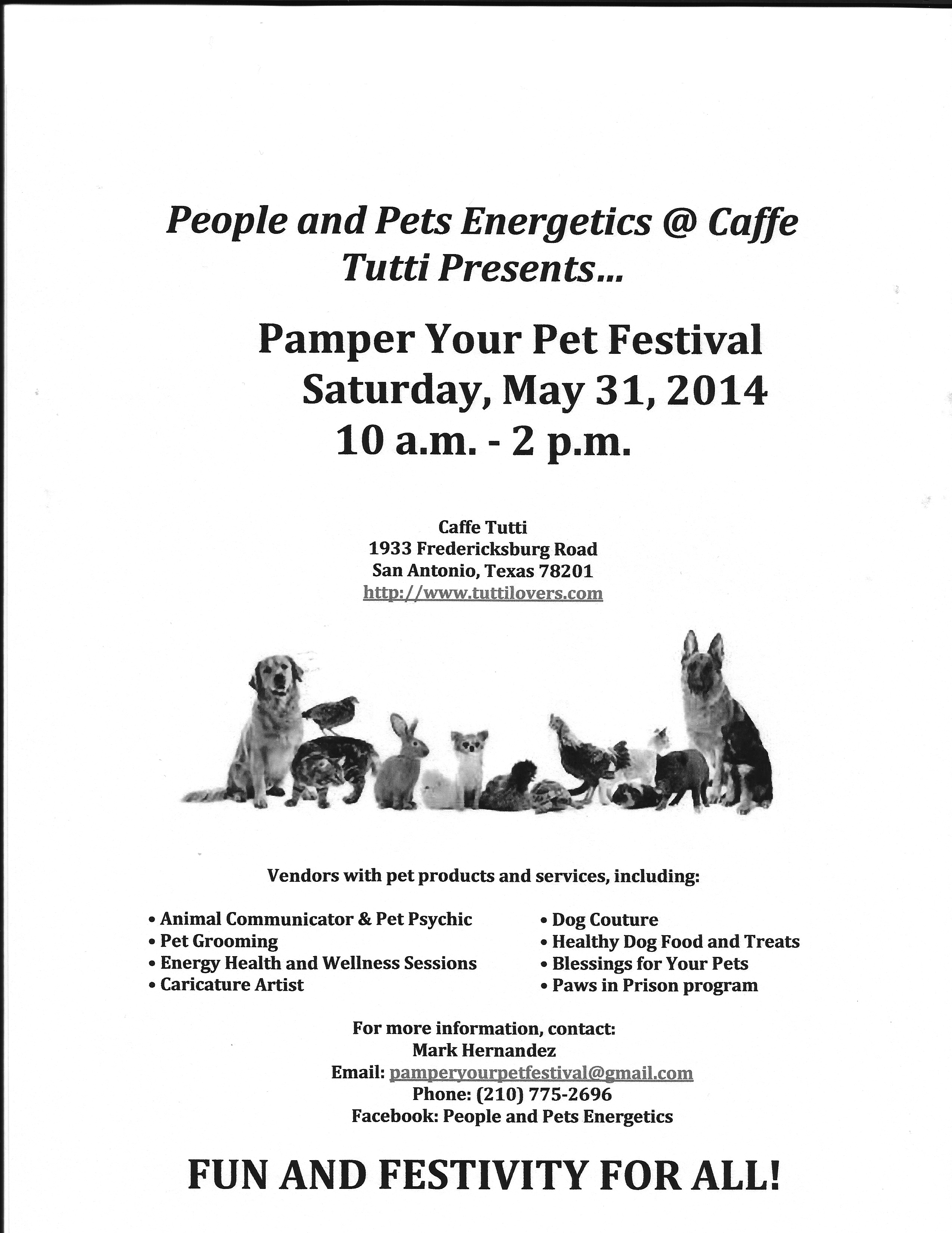 Pamper Your Pet Festival Flyer